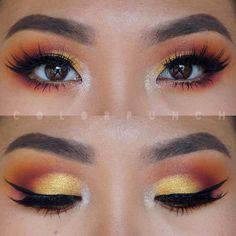 Yellow and Orange Eyeshadow