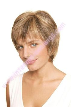Human Hair Short By Trend European. Also has a Monofilament cap. Simplicity and fun never looked so natural! We are pleased to present the new Trend European line. Unique and exquisi Short Wigs, 100 Human Hair, New Trends, Color Show, Short Hair Styles, Take That, Cap, Natural, Unique