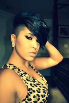 Love the bang & shaved sides!