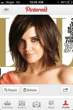 Layered bob - perfect cut, perfect color, just add a longish side swept bang