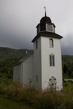Hovin Kirke in Tinn, Telemark. Grandma Bakken's (Margit Rue) family belonged to this church. Doug & I visited it in 1999 and finally found it after driving around in circles for about 20 minutes! It's tucked away through the woods and down the hill by the river with only a little 2-track road leading to it.