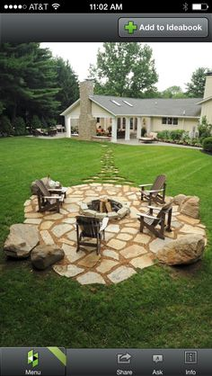 Such beautiful path and fire pit stone work