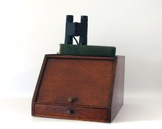 Portable desk secretary made by Globe Wernicke