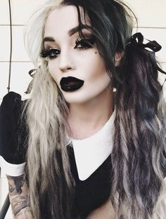 22 Fashion tips to rock the Nu-Goth style Nu Goth Fashion Tip Victoria Campbell Hair Alternativ Nu Goth Fashion, Fashion Beauty, Fashion Tips, Style Fashion, Rock Fashion, Fashion Clothes, Goth Beauty, Dark Beauty, Blonde Beauty