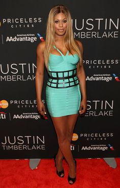 Pin for Later: Why Laverne Cox Is the Fiercest Woman in Fashion Laverne Cox Style She turned heads at a Justin Timberlake concert in July 2014 in this stem-flaunting minidress.