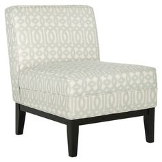 Found it at Wayfair - Armond Moroccan Chair in Silver & Cream