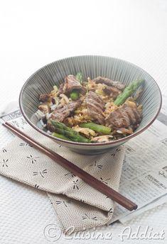 Riz frit Japonais aux Asperges à la Plancha