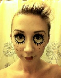 Doll Makeup for Halloween costume or cosplay