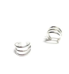 3 Row Silver Polished Ear Cuffs are perfect if you don't have piercings but would love to add a little edgy rocker feel to your persona. Find your favorite.