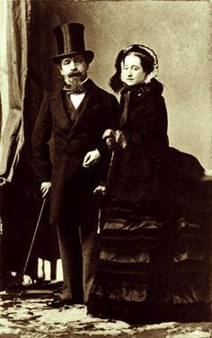 Adolphe Eugène Disderi (1819-1890) - French emperor Napoléon III and his wife Eugenie - 1865