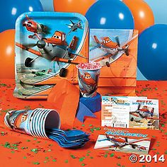 Don't let this year's birthday fly away with out Disney Planes Party Supplies! Disney Planes Birthday, Disney Planes Party, 4th Birthday Parties, Birthday Fun, Birthday Ideas, Third Birthday, Orange Balloons, Airplane Party, Party Themes For Boys