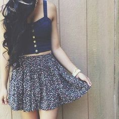 Lovelyy and I would so wear the top with a pair of colored high waisted shorts