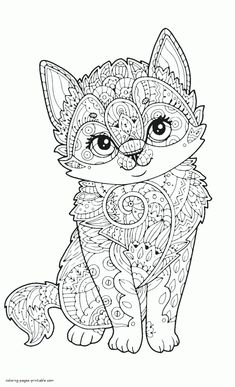 Fox Coloring Page, Free Adult Coloring Pages, Cute Coloring Pages, Cartoon Coloring Pages, Mandala Coloring Pages, Animal Coloring Pages, Pokemon Coloring Pages, Coloring Books, Animal Pictures To Color