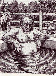 Charles Bukowski, vu par Robert Crumb