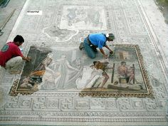 Zeugma Mosaic of Icarus and Daedalus