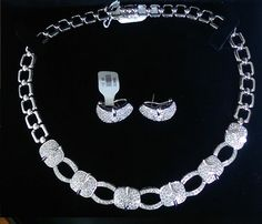 This set is simply mesmerizing ! All the #diamonds are in a pave setting and each piece is well worth its alluring attraction. The set has a total of 10.83 ct and it is all in 18K white gold. This #jewelry #set comes in a beautiful gift box and is guaranteed to be authentic. Enjoy this gorgeous set and wear it for occasions as a set or individually for a night out ! $5855