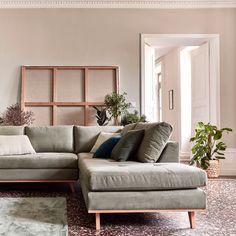 Canapé d'angle fixe droit en tissu kaki-PICABIA Living Room, Furniture, Room, Living Room Furniture, Interior, Sofa Design, House Styles, Home Deco, Living Room Sofa Design