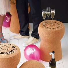 Made from the finest Portuguese Cork, the table has a flat top and is suitable for indoor and outdoor use.