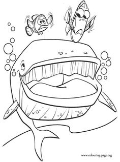 crush from nemo coloring pages | finding nemo crush coloring pages ...