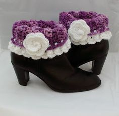 Rose Cottage Crochet: Crochet Boot Cuff Pattern Tutorial
