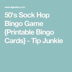 50's Sock Hop Bingo Game {Printable Bingo Cards} - Tip Junkie