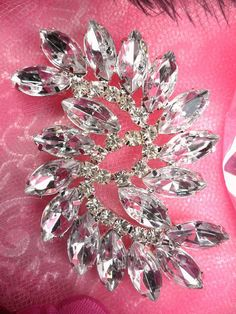 Marquise Swirl Crystal Rhinestone Applique Embellishment Size  x This  applique is absolutely stunning with sparkle and fefae9a672ef