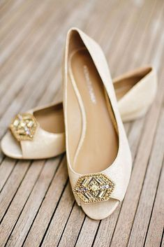Flat Wedding Shoes For The Love Of Comfort And Style ❤ See more: http://www.weddingforward.com/flat-wedding-shoes/ #weddings #weddingshoes