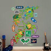 Show TMNT Wall Decals and Stickers! Teenage Mutant Ninja Turtle wall decor featuring Raphael, Donatello, Leonardo, and Michaelangelo Teenage Mutant Ninja Turtles, Tmnt, Wall Decals, Skateboard, Classic, Skateboarding, Derby, Wall Stickers, Skate Board
