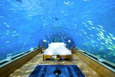 This underwater bedroom in the Maldives