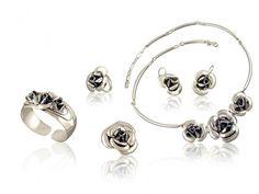 Silver jewellery set - 5 elements 5 Elements, Silver Jewellery, Jewelry Sets, Hoop Earrings, Stylish, Silverware Jewelry, Silver Jewelry, Silver Decorations