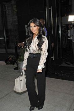 Kim Trend: High-Waisted Pants - Kim Kardashian Style