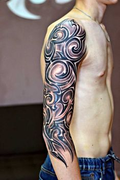 Tribal Tattoos For Men, Tattoos For Guys, Maori Tattoo Designs, Forearm Tattoo Men, Tribal Art, Tattoo Photos, Tatting, Cover, Sleeve