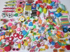 Collection de gommes originales, mais qui n'effaçaient pas grand chose !