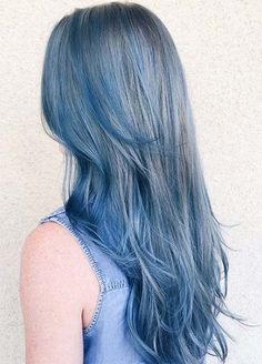 Makeup Tips for Denim Blue Hair #denimhair #bluehair More