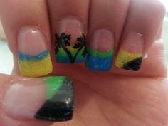 Summer nails palm tree