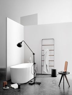 Towel Ladder, White/Light Ash Design by Norm Architects