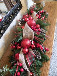 Burlap Christmas Table Centerpiece, Holiday Centerpiece, Ready to ship Centerpiece, Christmas Decoration, Ready to ship Tartan Christmas, Christmas Swags, Christmas Flowers, Burlap Christmas, Holiday Wreaths, Christmas Time, Holiday Decor, Christmas Table Centerpieces, Christmas Arrangements