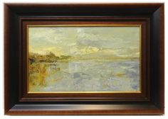Ana Delgado : Lake. Medium: Oil on canvas Measurements (cm): 76x54 Canvas measurements (cm): 55x33 Interior frame: Yes. High quality painting designed with mastery and a beautiful color palette. $533.45
