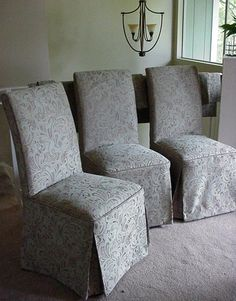 Three of Set of Six Parsons Chairs Together - By Mary Maki Rae