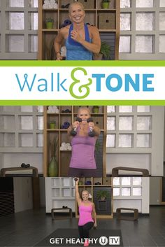 Walk off the weight, burn the fat and feel great with this Walk & Tone workout program!