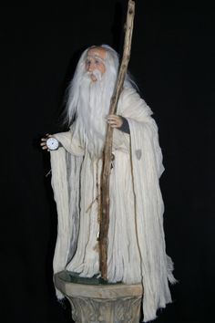 Father Time   One of a Kind cernit Artist Doll by Stevi T