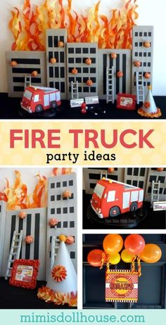 97 awesome fireman birthday party firetruck birthday party images rh pinterest com