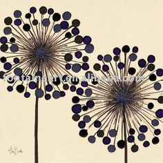 Alan Buckle,Handmade decorative bubble flowers oil painting,black,creamy,50x50cm
