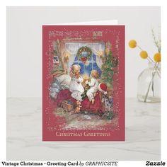 Shop Retro German Fröhliche Weihnachten Christmas Card created by RetroMagicShop. Vintage Greeting Cards, Christmas Greeting Cards, Christmas Greetings, Holiday Cards, Retro Christmas, Christmas Themes, Christmas Stuff, Christmas Eve, Eve Children