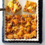 Pepperoni and Sausage Deep-Dish Pizza Quiche Recipe Breakfast Strata, Breakfast Bake, Breakfast Casserole, Burrito Casserole, Breakfast Lasagna, Breakfast Recipes, Sausage Casserole, Breakfast Ideas, Strata Recipes