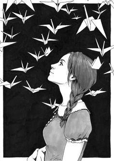 Far Away, original ink drawing by Djamila Knopf, $85