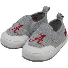 Alabama Crimson Tide Infant Ash Pre-Walk Shoes
