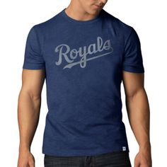 MLB Kansas City Royals Men's Scrum Basic Tee, Large, Blea...