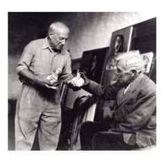 Pablo Picasso & Happy birthday, Georges Braque!