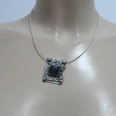 Sterling silver Labradorite pendant (4802) – Hadar Jewelry